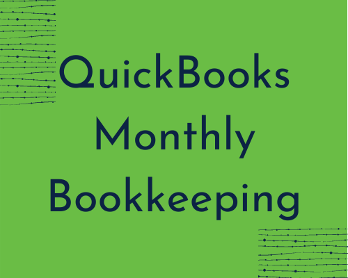 Quickbooks Monthly Bookkeeping